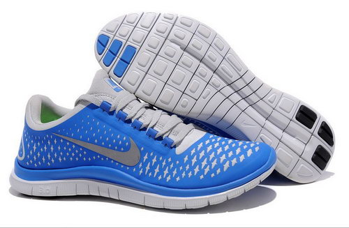 Nike Free Run 3.0 V4 Mens Blue Grey Silver Czech